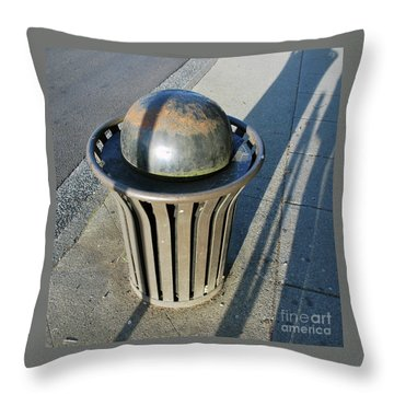 Throw Pillow featuring the photograph Space Trash by Bill Thomson