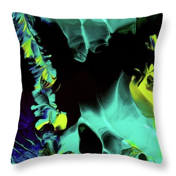 Space Vines Throw Pillow