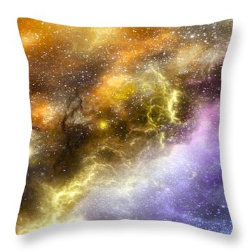 Space005 Throw Pillow by Svetlana Sewell