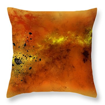 Space012 Throw Pillow by Svetlana Sewell