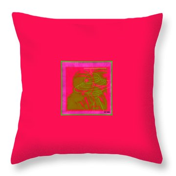 Spaceacesee Throw Pillow by Tony Adamo