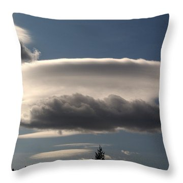 Throw Pillow featuring the photograph Spacecloud by Ben Upham III