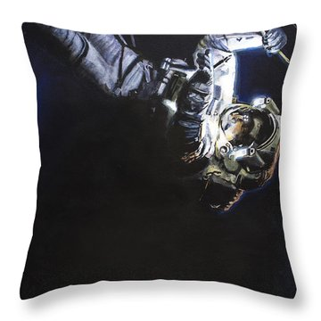 Spacewalk 1  Throw Pillow by Simon Kregar