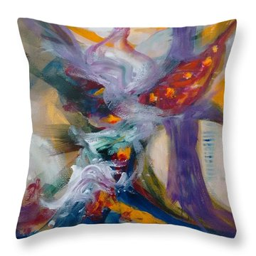 Spacial Encounters Throw Pillow