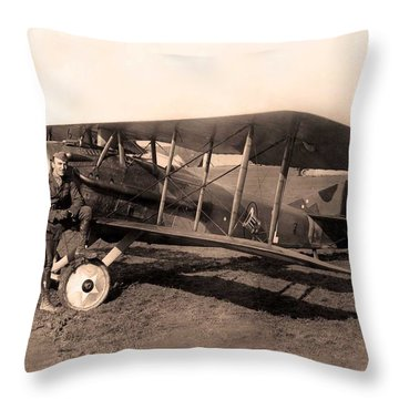 French Spad Xiii 1918 Throw Pillow