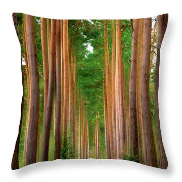 Spaghetti Trees Throw Pillow by Svetlana Sewell