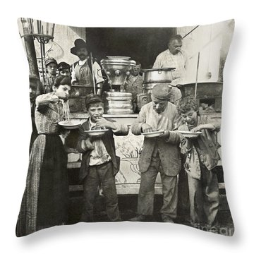 Spaghetti Vendor, C1908 Throw Pillow by Granger