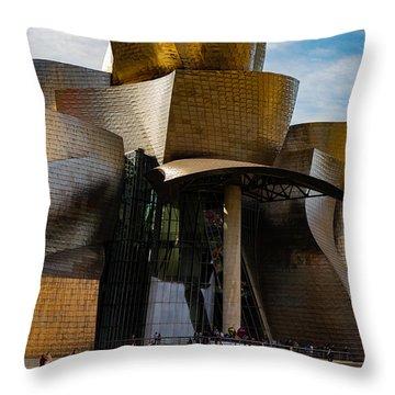 The Guggenheim Museum Spain Bilbao  Throw Pillow