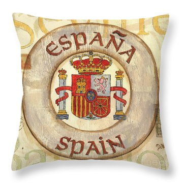 Spain Coat Of Arms Throw Pillow by Debbie DeWitt