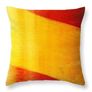 Spain Flag Throw Pillow by Setsiri Silapasuwanchai