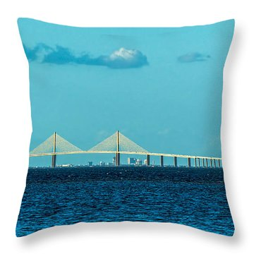 Span Over St. Petersburg Throw Pillow