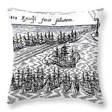 Spanish Armada Throw Pillow