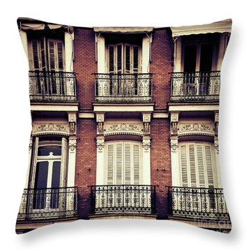 Spanish Balconies Throw Pillow