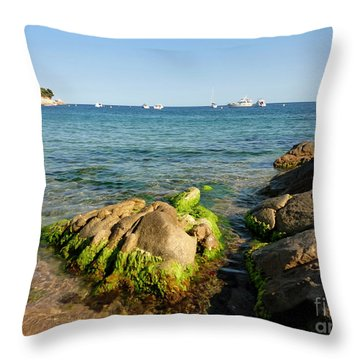 Throw Pillow featuring the photograph Spanish Beach by Gregory Dyer