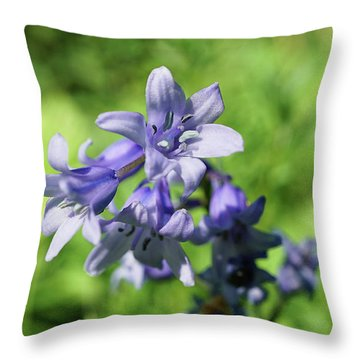 Spanish Bluebell Throw Pillow