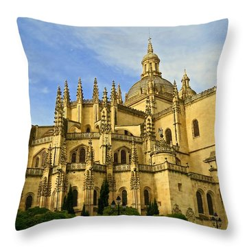 Spanish Cathedral Throw Pillow