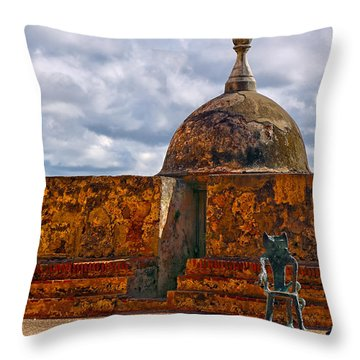 Spanish Colonial Architecture Throw Pillow