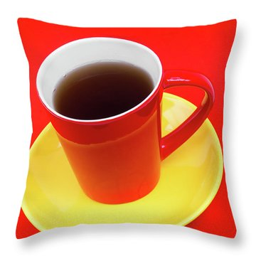 Spanish Cup Of Coffee Throw Pillow by Wim Lanclus