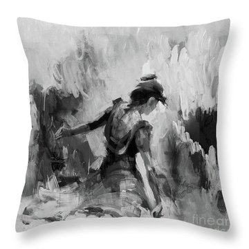 Throw Pillow featuring the painting Spanish Dance 7734j by Gull G
