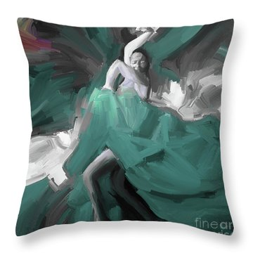 Throw Pillow featuring the painting Spanish Dance Art 56yt by Gull G