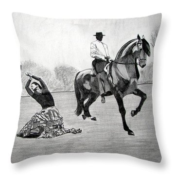 Spanish Dance Throw Pillow by Melita Safran