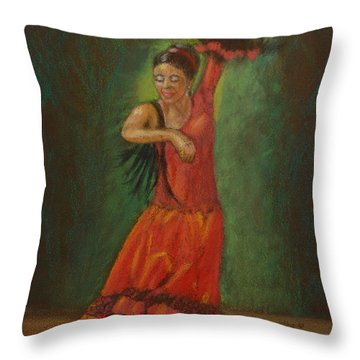 Spanish Dancer 2 Throw Pillow