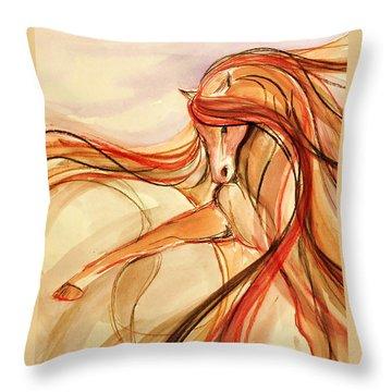Sporthorse Throw Pillows