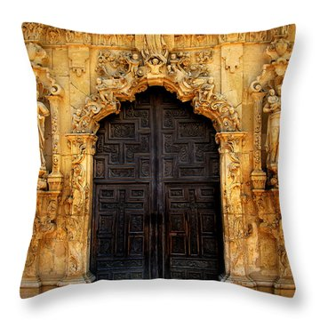 Spanish Doorway Throw Pillow by Perry Webster