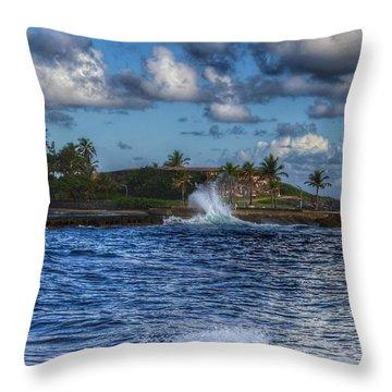 Spanish Fort  Throw Pillow