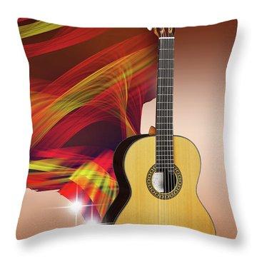 Spanish Guitar Throw Pillow