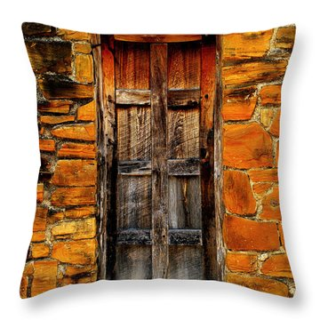 Spanish Mission Door Throw Pillow