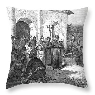 The Alamo Throw Pillows