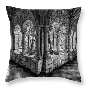 Spanish Monastery Throw Pillow