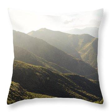 spanish mountain range, Malaga, Andalusia, Throw Pillow