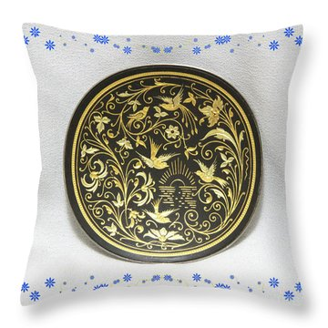 Throw Pillow featuring the photograph Spanish Plaque by Linda Phelps