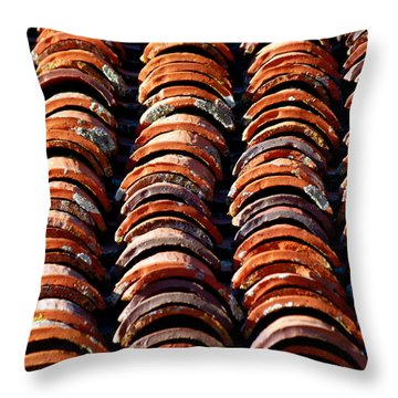 Spanish Roof Tiles Throw Pillow