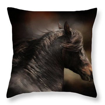 Spanish Stallion Throw Pillow