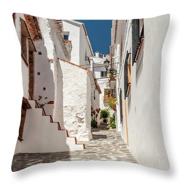 Spanish Street 1 Throw Pillow