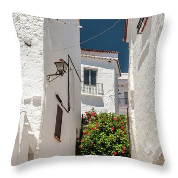 Spanish Street 2 Throw Pillow