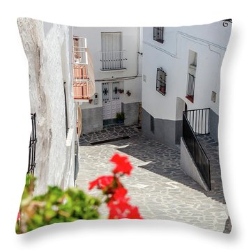 Spanish Street 3 Throw Pillow