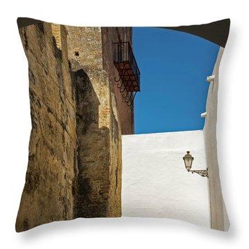 Spanish Street Throw Pillow