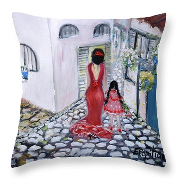 Spanish Style 2 Throw Pillow by Evelina Popilian