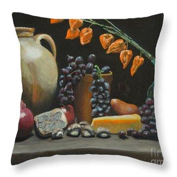 Spanish Urn And Japanese Lantern Throw Pillow