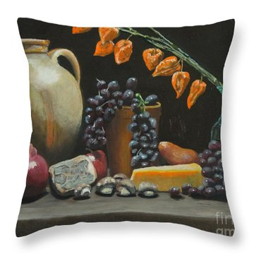 Spanish Urn And Japanese Lantern Throw Pillow