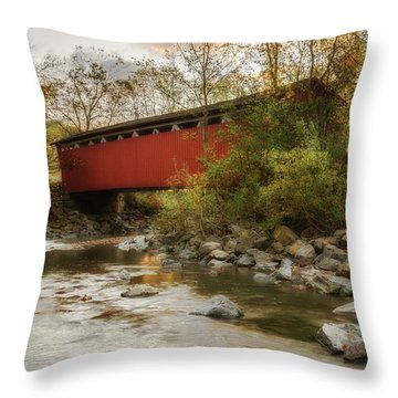 Throw Pillow featuring the photograph Spanning Across The Stream by Dale Kincaid