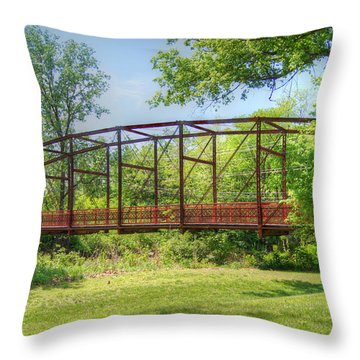 Spanning Time Throw Pillow