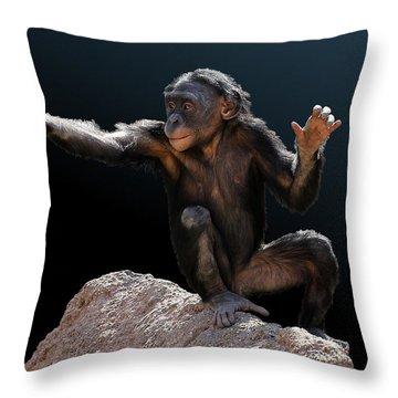 Spare Change? - Bonobo Throw Pillow