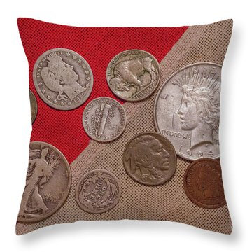 Throw Pillow featuring the digital art Spare Change Ver One by Randy Steele