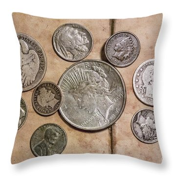 Throw Pillow featuring the digital art Spare Change Ver Two by Randy Steele