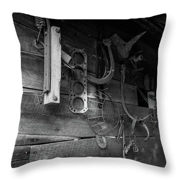 Spare Parts Throw Pillow